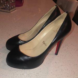 Christian louboutin heel bianca 140 shoe black